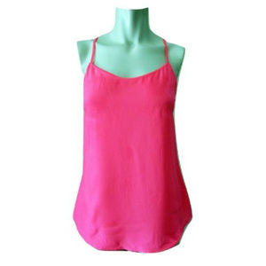 J Crew Neon Pink Racer Back Tank Size 0 (NWT)
